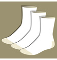 Socks template vector image vector image