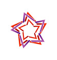 Stylized star design element vector image vector image