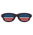 sunglasses with usa flag vector image