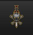 sword skull icon mascot logo design template vector image