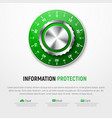 template of white banner with green mechanical vector image vector image