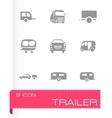 Trailer icon set