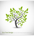 tree logo concept with leaves vector image vector image