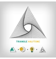 Triangle logo 3d abstract halftone vector image