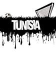 tunisia with a soccer ball and gate vector image vector image