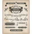 vintage hand drawn banner and ribbon design set vector image vector image