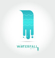 waterfall logo design vector image vector image