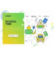 web site linear art design template school vector image vector image
