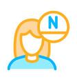 woman rejuvenate vitamin icon outline vector image