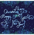 Christmas and New year Card with lettering vector image