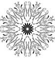 outline floral mandala circular ornament vector image
