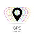 GPS logo vector image
