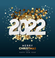 2022 happy new year background merry christmas vector image vector image