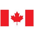 accurate correct flag of canada vector image vector image