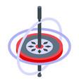 aerospace gyroscope icon isometric style
