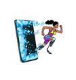 african woman runner disabled leg with prosthesis vector image vector image