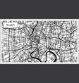 bangkok thailand city map in black and white color vector image