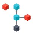 Blockchain Icon vector image vector image
