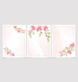 blooming magnolia flower branch on pink vector image vector image