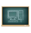 board desktop computer vector image vector image