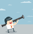 Businessman target with money vector image vector image