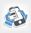 card phone icon vector image