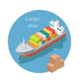 Cargo Ship Icon in Isometric Projection vector image vector image