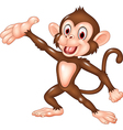Cartoon funny monkey presenting isolated vector image vector image