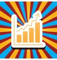 chart icon vector image vector image