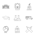 Children education icons set outline style vector image vector image