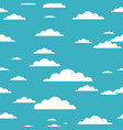 cloud seamless pattern on blue background vector image vector image