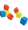 cubes color 4 vector image vector image
