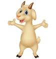 Cute goat cartoon posing vector image vector image