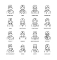 Cute line icon of doctor Hospital clinic vector image vector image
