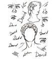 david s head period renaissance vector image vector image