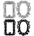 design set with antique baroque frames vector image