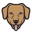 dog face vector image vector image