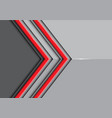 double red line arrow on gray glossy vector image vector image