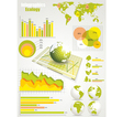 ecology info graphics collection vector image vector image
