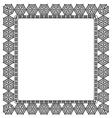 Elegant black frame vector image