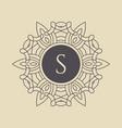 elegant floral monogram design template vector image vector image
