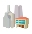 Fossil fuel power station cartoon icon vector image vector image