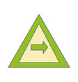 full color triangle warning notices with turn vector image vector image