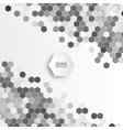 Geometric background abstract hexagonal pattern vector image vector image