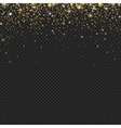 gold snow glitter particles confetti vector image vector image