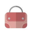 Hand bag isolated Color flat icon and object vector image vector image