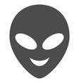 happy alien head flat icon vector image