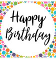 happy birthday design for greeting card template vector image