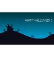 Happy Halloween backgrounds castle vector image vector image