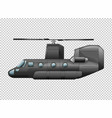 helicopter on transparent background vector image